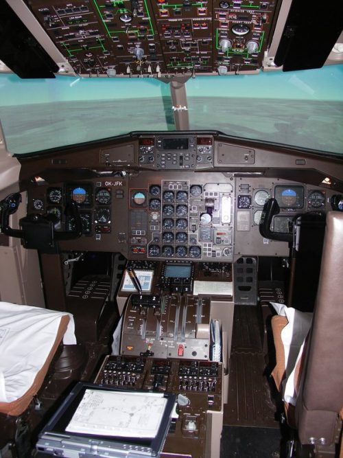 Simulátor dopravního letadla