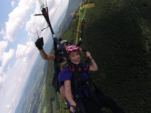 Tandemový paragliding - vyhlídkový let